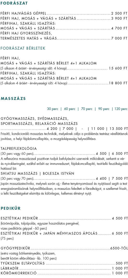 Fádrászat árak